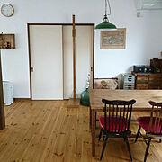 ダイニング/Before/ペンキDIY/アンティーク/身長計/薬箪笥…などのインテリア実例