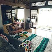 籐の椅子/日本家屋/田舎暮らし/Lounge…などのインテリア実例