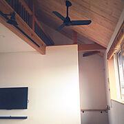 勾配天井+ロフトのインテリア実例写真