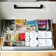 積み重ねボックス/調味料/時短収納/時短/仕切りケース/パントリー…などのインテリア実例