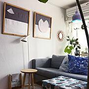 リビング/On Walls/漆喰壁/北欧/北欧xDIY/DIY…などのインテリア実例