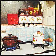 お気に入り/花柄/レトロなもの達/昭和な生活/Kitchen…などのインテリア実例