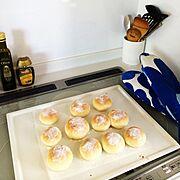 手作りパン…などのインテリア実例