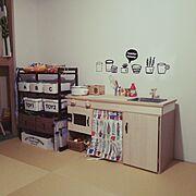 salut!/和室をキッズスペースに/saluit!/ままごとキッチン/DIY…などのインテリア実例