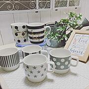 植物のある暮らし/キッチンカウンター/雑貨/ダイソー/いいね!ありがとうございます◡̈♥︎/出来るだけ安く…などのインテリア実例