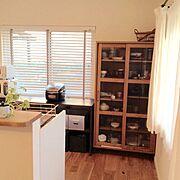 無印良品/炊飯器/観葉植物/男前/食器棚/無垢床…などのインテリア実例