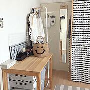デコシール/飛散防止加工/日本製/ミラー/壁掛けミラー/スタンドミラー…などのインテリア実例