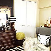 白黒/IKEA/グレー/モノトーン/Lounge…などのインテリア実例