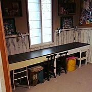 椅子/ブライワックス/バターミルクペイント/手作り/My Desk…などのインテリア実例