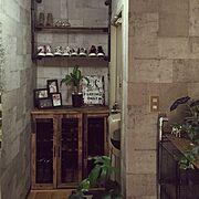 壁紙屋本舗/観葉植物/男前/DIY/塩ビパイプ/インダストリアル…などのインテリア実例