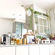 My Desk/窓枠DIY/フェイクグリーン/ニトリ/セリア/ウォールステッカー…などに関連する他の写真