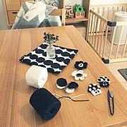 ハンドメイド/北欧雑貨/IKEA/KLIPPAN/かぎ針編み/こどもと暮らす。…などのインテリア実例