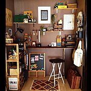 道具を見せる収納で。/100均ばっかり/床の間/DIY/和室を改造/男前も可愛いも好き…などのインテリア実例