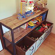 コンテスト参加♡/DIY/男前/子供部屋/収納/My Shelf…などのインテリア実例