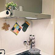 ポットホルダー/コンポッティ/マリメッコ/ストウブ鍋/Kitchen…などのインテリア実例