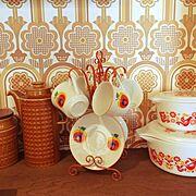 昭和レトロ部/ヴィンテージ壁紙/古いもの/昭和/レトロ/Kitchen…などのインテリア実例