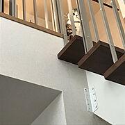 白い階段 のインテリア実例写真