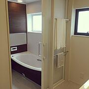 システムバス/TOTOサザナ/サザナ/脱衣所/タオル掛け/Bathroom…などのインテリア実例