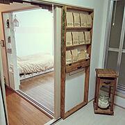 賃貸アパート/収納/キッチン収納/賃貸でも楽しく♪/クラフト袋/壁面収納…などのインテリア実例