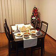 ZARA HOME/ニトリ/ダイニングテーブルセット/クリスマスツリー/クリスマス…などのインテリア実例