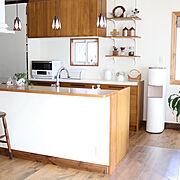 漆喰壁/シンプルナチュラル/ウォーターサーバー/キッチンカウンター/フレシャスデュオ…などのインテリア実例