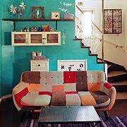 明るいとこで見ると鮮やかな色合い/ジャーナルのブランケット/journal standard Furniture/ジャーナルスタンダードファニチャー…などに関連する他の写真
