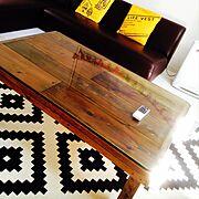 ペイント/端材/ワトコオイル/端材 DIY/DIY/テーブル DIY…などのインテリア実例