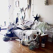 chunky knit blanket/journal standard Furniture/グレージュ…などのインテリア実例