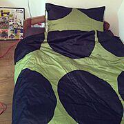ベッドカバー/Bedroom…などのインテリア実例