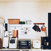 コンテスト/見せる収納/簡単DIY/seria/キッチン収納/楽天で買ったもの…などのインテリア実例