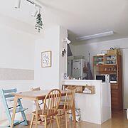 賃貸キッチン/もみの木のかご/子供がいる家/こどもと暮らす。/こどもと暮らす/北欧暮らしの道具店…などのインテリア実例
