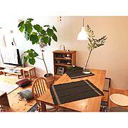 リサラーソン/木かるねんど/姫南天の葉/北欧xDIY/キリムクッション/IKEA…などのインテリア実例