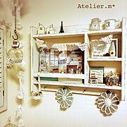 ハンドメイド/Atelier.m*/色んな人の作品❤️/吉原理映さんの本/On Walls…などのインテリア実例