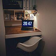 スクリーンセイバー/Fliqlo/押し入れ改造/飾り棚/パソコン/Bedroom…などのインテリア実例