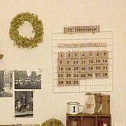 セリア/カレンダー/万年カレンダー/セリアリメイク/100均/手作り…などのインテリア実例
