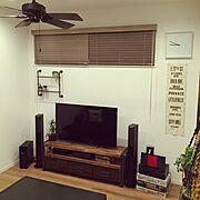 テレビボード/観葉植物/多肉植物/配管シェルフ/Lounge…などのインテリア実例