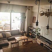 家具はほとんどDIY✨/賃貸でも楽しく♪/インスタ→chii_ne/Overview…などのインテリア実例