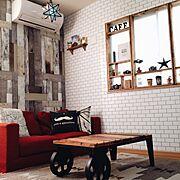 キッチン棚/カフェ風/見せる収納/コップ/お皿ディスプレイ/セリア…などに関連する他の写真