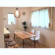 My Desk/ダイニングテーブル/DIY/建売/海外インテリアに憧れる/新築…などのインテリア実例