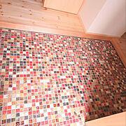 無垢の床のインテリア実例写真