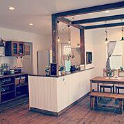 ナチュラルキッチン/ナチュラルなキッチン/雑貨の似合う家/フレンチスタイルの/かわいい家…などのインテリア実例