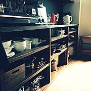 山善座談会/Kitchen/RC群馬/食器/食器棚/造作棚…などのインテリア実例