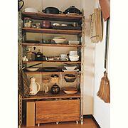 IKEA/食器棚収納/収納/雑貨/食器棚/男前インテリア…などのインテリア実例