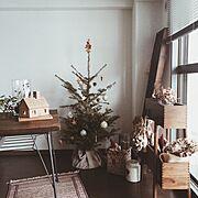 ダイニング/ダイニングテーブル/クリスマス/IKEA/Lounge…などのインテリア実例