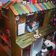 カラーボックス DIY/DIY/子供部屋/My Shelf…などのインテリア実例