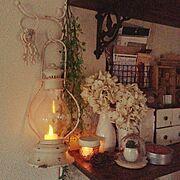 DIY板壁/板壁/空き瓶 ライト/ライト/照明/雑貨…などのインテリア実例