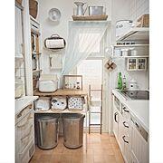 フレンチシャビーに憧れて/少し模様替えしました/Kitchen…などのインテリア実例