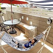 RoomClipドラマ化/ゆらふわモック/庭作り/お庭/ガーデンチェア/ガーデンエクステリア…などのインテリア実例