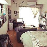 IKEA/雑貨/ソファー/いざなうるす屋さん/一人暮らし/無印良品…などのインテリア実例