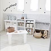 Lounge/こどもと暮らす/カラーボックス収納/お片付け育/ピンク…などに関連する他の写真